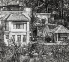 Villa in the Bali Jungle Sticker
