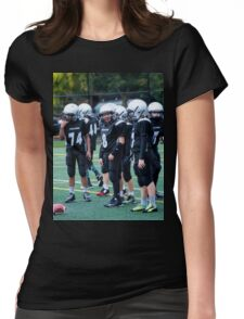 Pee Wee Black D Womens Fitted T-Shirt