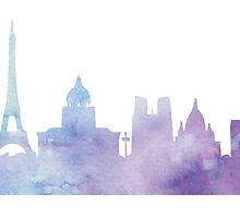 Paris watercolor by suzyq42