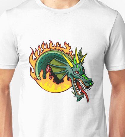 Dragon Serpent Fire Unisex T-Shirt