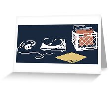 Vinyl Lover Pixel Art Greeting Card