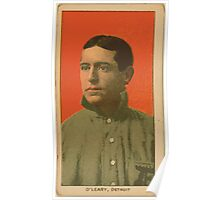 Benjamin K Edwards Collection Charley O'Leary Detroit Tigers baseball card portrait Poster