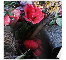still life 2 (plastic flowers from cemeteries) Poster