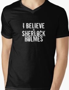 I Believe in Sherlock Holmes - White  Mens V-Neck T-Shirt
