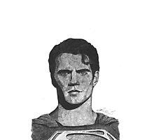Ballpoint pen drawing of Superman Photographic Print