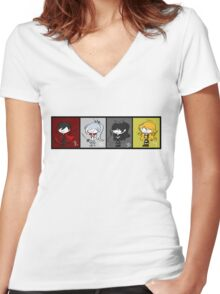RWBY DERPY Women's Fitted V-Neck T-Shirt