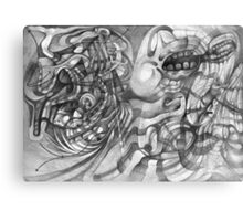 Extended Limb of an Octopus Painting a Picture. Canvas Print