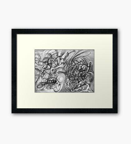 Dancing Shamen. Framed Print