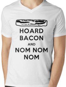 Hoard Bacon and Nom Nom Nom Nom Mens V-Neck T-Shirt