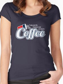 Free Dunkin Donuts Coffee if the Patriots Win Women's Fitted Scoop T-Shirt