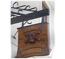 the shingle hanging outside the Drunken Admiral Poster