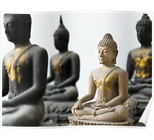 Light Stone Buddha focus and Three Dark out Poster