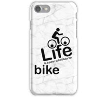 Bike v Life - Marble iPhone Case/Skin