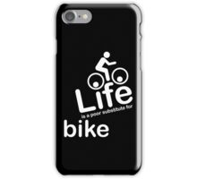 Bike v Life - Black iPhone Case/Skin