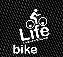 Bike v Life - Carbon Fibre Finish by Ron Marton