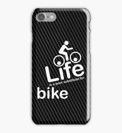 Bike v Life - Carbon Fibre Finish iPhone Case/Skin