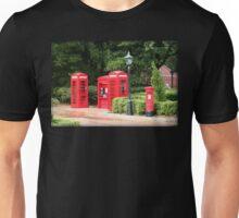 British Red Telephone Box And Pillar Box Unisex T-Shirt