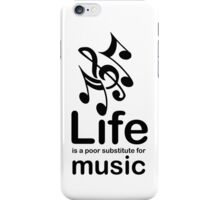 Music v Life - White iPhone Case/Skin