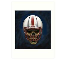 Husker Skull Art Print