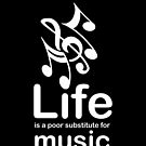Music v Life - Black by Ron Marton