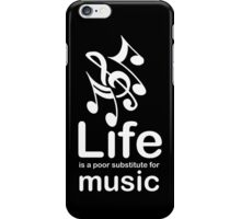 Music v Life - Black iPhone Case/Skin