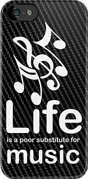 Music v Life - Carbon Fibre Finish by Ron Marton
