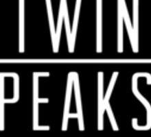 Welcome To Twin Peaks (White) Sticker