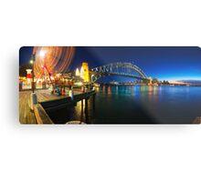 Sydney Harbour Panorama from Luna Park Metal Print