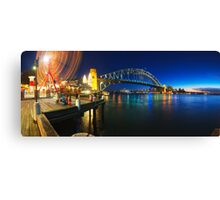 Sydney Harbour Panorama from Luna Park Canvas Print