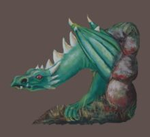 Forest Dragon T-shirt (with background removed) by Dianne  Ilka