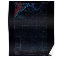 USGS Topo Map Washington State WA Steamboat Rock SE 244014 1968 24000 Inverted Poster