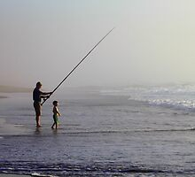 Fishermen at dawn by Antionette