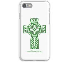Celtic Cross n4 Green iPhone Case/Skin
