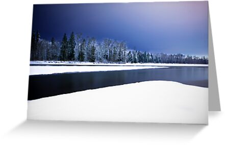 Wallace and Skykomish Rivers - Night by Jim Stiles