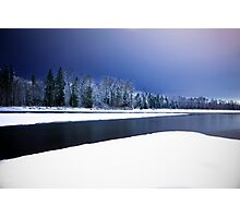 Wallace and Skykomish Rivers - Night Photographic Print