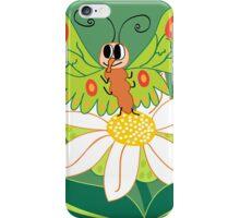 Butterfly on flower cute cartoon iPhone Case/Skin