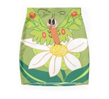 Butterfly on flower cute cartoon Mini Skirt