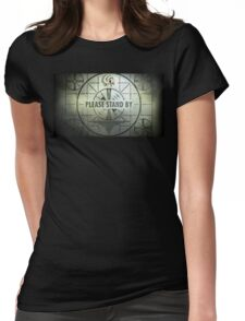 Please Stand By Womens Fitted T-Shirt