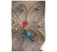 The Rainbow Stone Healing Butterfly Poster