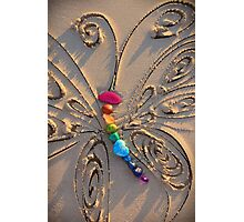 The Rainbow Stone Healing Butterfly Photographic Print