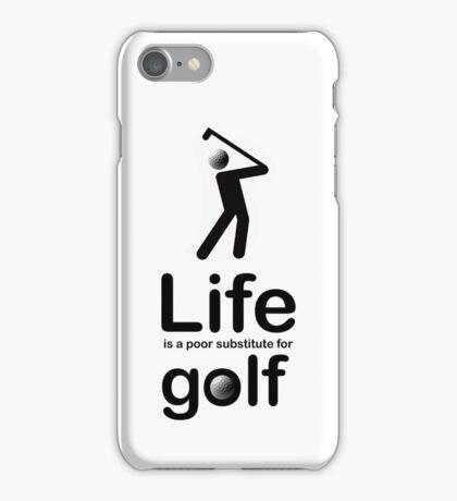 Golf v Life - White iPhone Case/Skin