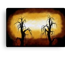 Abstract Trees Oil Painting #10 Canvas Print