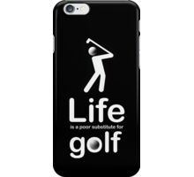Golf v Life - Black iPhone Case/Skin