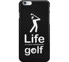 Golf v Life - Carbon Fibre Finish iPhone Case/Skin