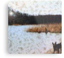 Wood, Dog and Sea Metal Print