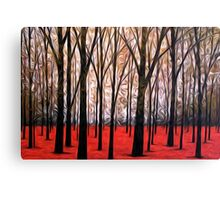 Abstract Trees Oil Painting #5 Canvas Print
