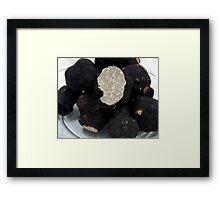 Oregon Black Truffles on white Framed Print