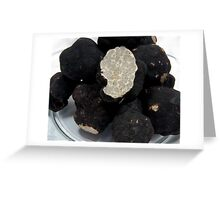 Oregon Black Truffles on white Greeting Card