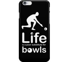 Bowls v Life - Black iPhone Case/Skin