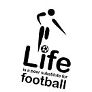 Soccer v Life - White by Ron Marton